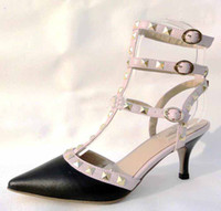 Wholesale 2012 new VINCENZO VALENTINO Women s shoes heels shoes black