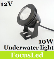 Wholesale 10W LM Underwater Led Lights V IP68 Waterproof Cool White Led Outdoor Fountain Garden Lights