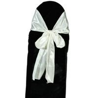 Wholesale Satin Wedding Chair Sash Bows New Ivory Ship From USA