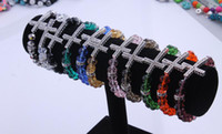 Wholesale Popular style pc Bracelet Sideways Cross charm Bracelet Rhinestone with faceted crystal Rope