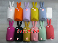 Wholesale Silicone rabito rabbit cartoon soft stand case gel skin cover cases for iphone th G