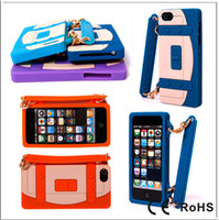 Wholesale Cliche Colorful Handbag Silicone Case Soft Silicon Back Cover Case for iPhone G