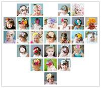 Hair Bows Cotton other Top Baby crochet flower hair bow clips headband barrette caps baby headdress hoody flower hair bow