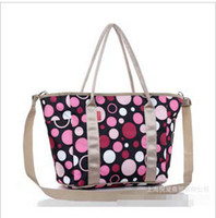 Wholesale Retail New Arrival Insulation Baby Diaper Bag Multi function Polka Dot With Black background Mummy Bag