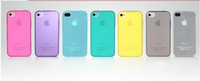 Wholesale Cool Your Phone frosted Case Back Cover Plastic Case for iPhone4S MixColor