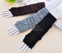 Wholesale 10pcs New CM Length Fashion Women Fine wool Fingerless Gloves