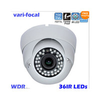 Wholesale 1 quot SONY CCD TVL IR Vari Focal mm Vandalproof Indoor Outdoor Dome Security Camera