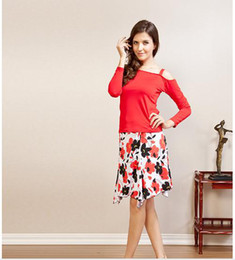 Wholesale CONNY qiu dong Latin dance skirt performance clothing female square dance clothes