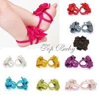 Wholesale Top Baby BABY shoes foot flower infant foot wear sandals walker shoes Colors
