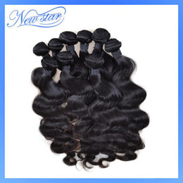 Wholesale 1kg or new light virgin peruvian hair machine weft body weave natural black color wholesal