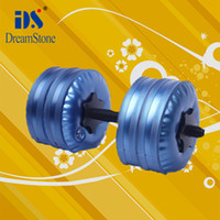 Wholesale New adjustable dumbbells Water Poured Dumbbell By DHL pairs