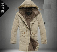 Wholesale 2013 New Men s Casual Fashion winter warm Fur Hooded Jackets Coats cotton padded clothes
