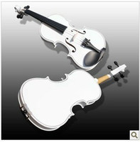 Wholesale OEM Suitable for beginners to practice using the White violin decorative White violin