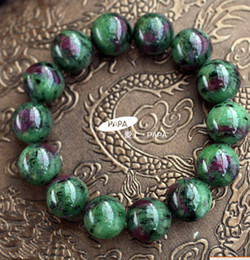 the red and green gemstone bracelet