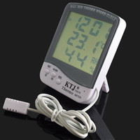 Wholesale New LCD Outdoor Sensor Probe Thermometer Hygrometer with clock