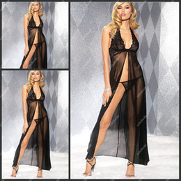 Wholesale Long Halter V neck Sexy Black Corset Chiffon Underwear for Dresses