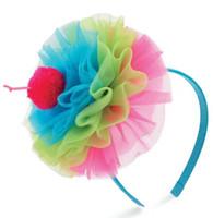 Wholesale baby headband girls birthday headwear princess chiffon Cupcake Headband EMS