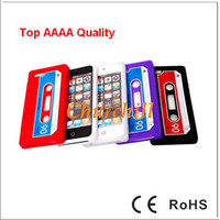 Wholesale Silicon Soft Cassette Tape Cover Case for Apple New iPhone iPhone5 S G