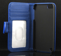 Wholesale BOOK Photo Frame Wallet Credit ID Card Leather Case For Apple IPOD Touch