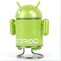 Wholesale Google Android Doll Mini Speaker Music Box Subwoofer TF SD Card Slot USB Cable FM Radio