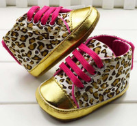 Wholesale Baby Leopard First Walking Shoes Baby First Walker Shoes Baby Girls Shoe Toddler Shoes Leopard Shoes