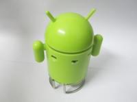 Wholesale Cute Google Android Robot Mini Speaker Mp3 FM Radio TF SD Card Slot Xmas Gift