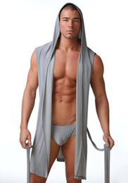 Wholesale Relaxed Ultra Soft Dream Robe Sleepwear Polyester Hooded sleeveless smooth leisure Bathrobes nightgown clothes clothing