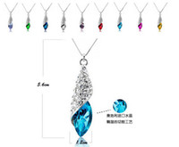 Wholesale Jewelry set package batch Austria Crystal Necklace earrings sea thoughts Desert light