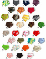 Wholesale NWN Baby Stay Dry Bandana Dribble Bibs Triangle Head Scarf Sling Bibs for Infant Boy Girl