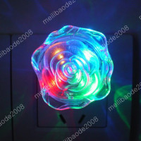 Wholesale 100pcs M16 Romantic Colorful Rose Shaped LED Night Light Lamp Lighting