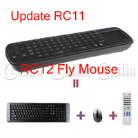 Wholesale Touchpad Fly Air Mouse RC12 GHz wireless Keyboard for google android Mini PC TV BOX