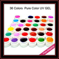 Wholesale Colors Pure Color UV Gel Nail Gel For Nail Art Tips Extension With Retail Box