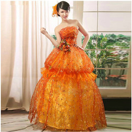 Wholesale Evening dresses top strapless flower wedding dress formal evening dresses party dresses prom dresses