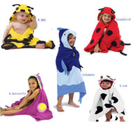 Wholesale Children bath robe animal baby towel Penguin Cow Beatles design