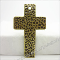 Wholesale Charms Antique bronze Alloy Cross Pendant Fit Bracelet amp Necklace DIY Jewelry Fitting