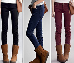 Wholesale Fashion Spring Autumn Winter Women Tight Pencil Leggings Pants Trousers Fleece Thicker Warm Streched