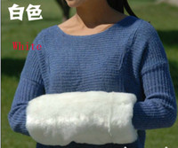 Wholesale 2015SSS white Arm Warmers Faux Fur hand warm fur hand over hand warmer muff hands warm cage pillow