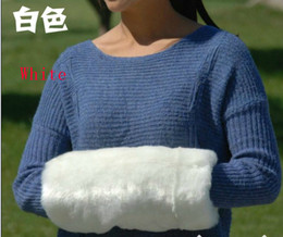 2015SSS white Arm Warmers Faux Fur hand warm fur hand over hand warmer muff hands warm cage pillow
