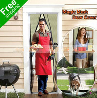 Wholesale Magic Mesh Hands Free Screen Door Magnetic Anti Mosquito Bug Great For Pets