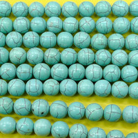 wholesale china beads - China Post Air Mail mm thread turquoise round beads in