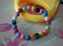 Wholesale Children s jewelry handmade Acrylic Bead Bauble Bracelet Christmas ornaments Fashion kid bracelets