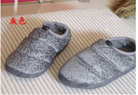 Wholesale Cotton slippers down slippers slippers couples home fashion bag with warm slippers slippers pairs