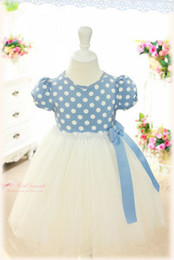 Wholesale Baby Tutu Dresses Girl Pink Blue Dot Ruffle Bow TUTU Dress Skirt Colors Choose For T pc