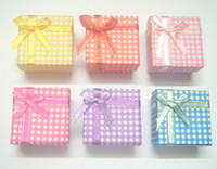 Ring mix color Jewelry Boxes 24pcs lot 5x5x3cm Jewelry Packaging Ring & Earring Gift Box Free Shipping BX12