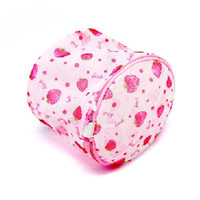 Wholesale Strawberry stand printed bra care wash bag