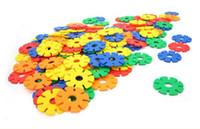 Plastics plastic building blocks toys - Snow flower toy block Plastic building block creative educational toy Plastic building block