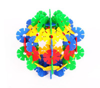 Wholesale Snow flower style building block creative educational toy promotion brain development