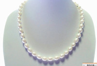 Wholesale 6 MM m shaped white natural freshwater pearl necklace genuine pearl super cheap