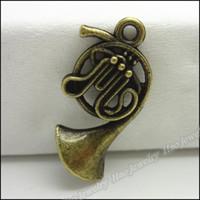 Zinc Alloy antique tuba - Charms Antique bronze Alloy Tuba Pendant Fit Bracelet amp Necklace DIY Jewelry Fitting