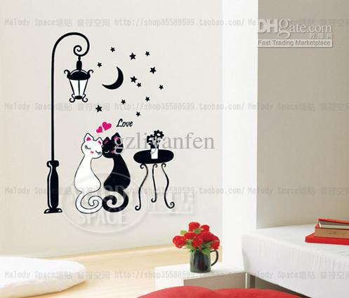 Cat Lover Home Room Decor Removable Wall Sticker Decal Decoration B40138